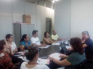 Com coordenadores da Secretaria da Educação de Ipatinga