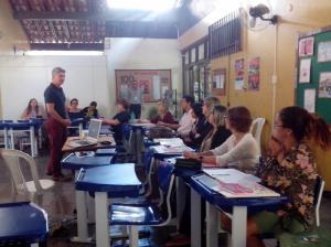 Com coordenadores da Secretaria da Educação do Governador Valadares