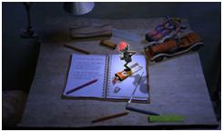 O saci-pererê, de Ziraldo, numa cena do vídeo O saci.