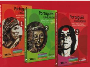 Coleção Português: linguagens, inscrita no  programa de 2015 com volumes de 400 páginas.