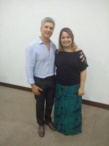 Com a assessora pedagógica Helga, de Recife