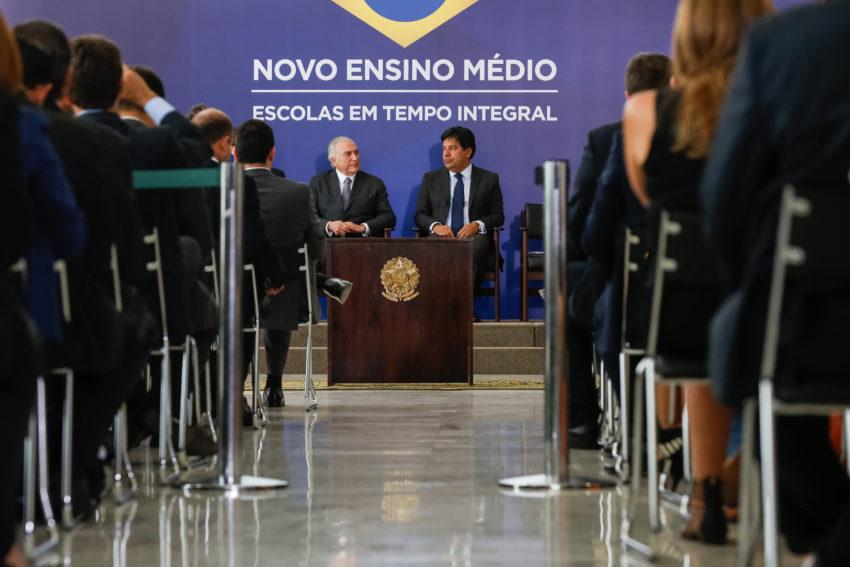 Brasília - DF, 22/09/2016. Presidente Michel Temer durante cerimônia de lançamento do novo ensino médio. Foto: Carolina Antunes/PR
